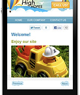 Mobile Site Example 1